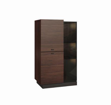 Zlevněné obývací pokoje Barová skříňka Quartz - typ 09 (jilm J1) - PŘEBALENO