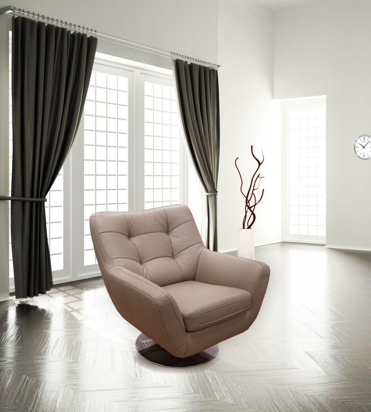 Zlevněné obývací pokoje Boss II - Křeslo, kožené (kalifornia G-648) - II. jakost