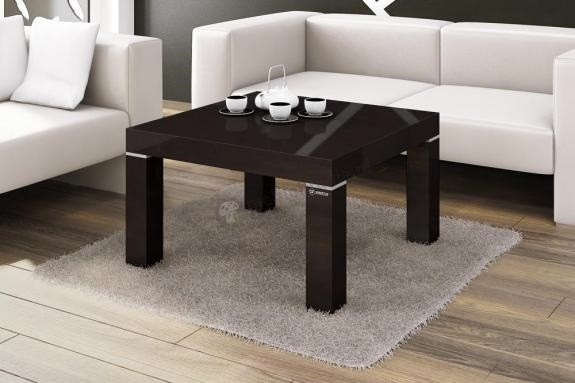 Zlevněné obývací pokoje Konferenční stolek KW 80 (černá lesk) - PŘEBALENO