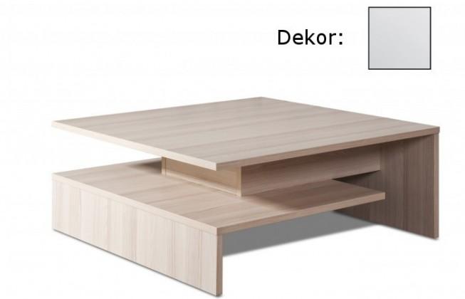 Zlevněné obývací pokoje Konferenční stolek Selar II (bílá arctic) - II. jakost