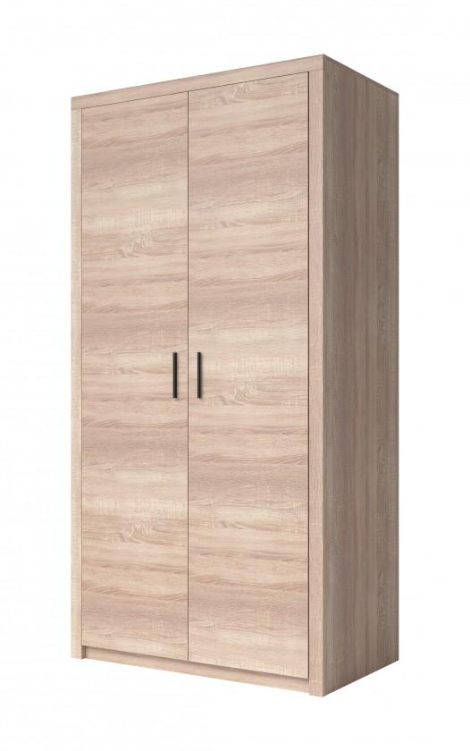 Zlevněné obývací pokoje Obývací skříň Nemesis - 2x dveře (dub sonoma)