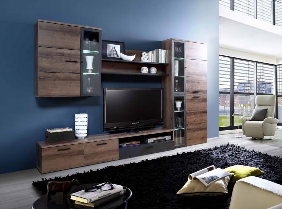 Zlevněné obývací pokoje Obývací stěna Durango (dub/dub černý)
