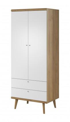 Zlevněné obývací pokoje Obýváková skříň Primo (dub riviera, bílá) - II. jakost