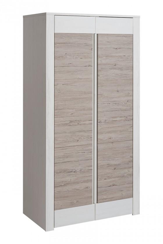 Zlevněné obývací pokoje Skříň Alvo - 2 dvířka (andersen white pine/andersen beige)