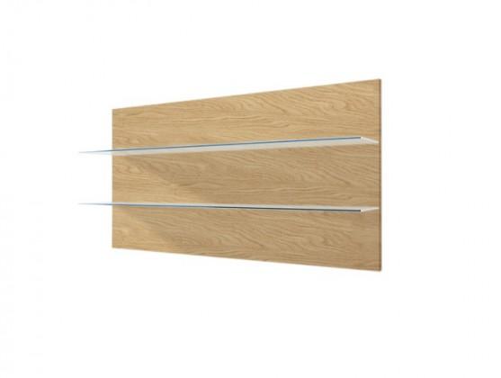 Zlevněné obývací pokoje Závěsný panel Corano - typ 09 (bílá/dub) - Z EXPOZICE