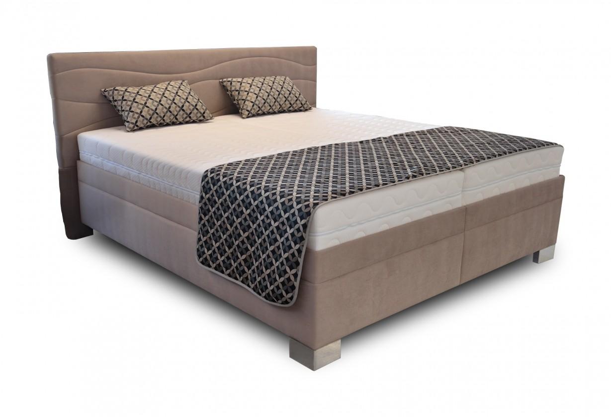 Zlevněné postele Čalouněná postel Windsor 180x200 vč. matrace a výklop. roštu, úp