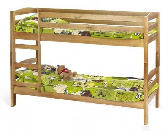 Zlevněné postele Patrová postel Sam (borovice) - II. jakost