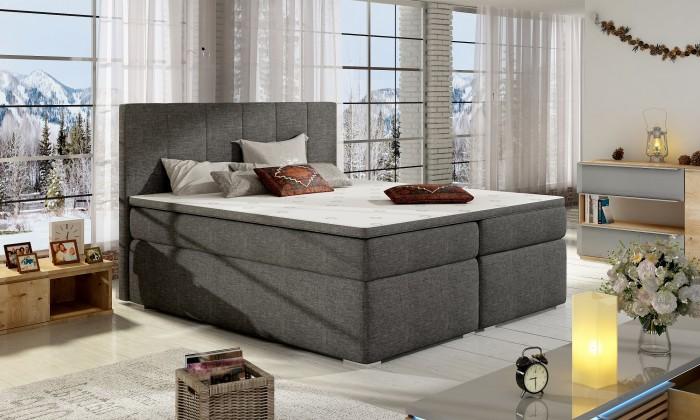Zlevněné postele Postel Boxspring Bolero 180x200, vč.mat., topperu a úp-II. jakost