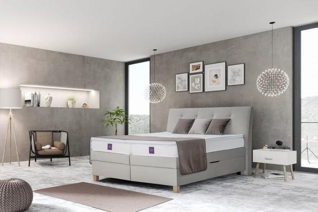 Zlevněné postele Postel Boxspring Charles 180x200 cm, ÚP - Z EXPOZICE
