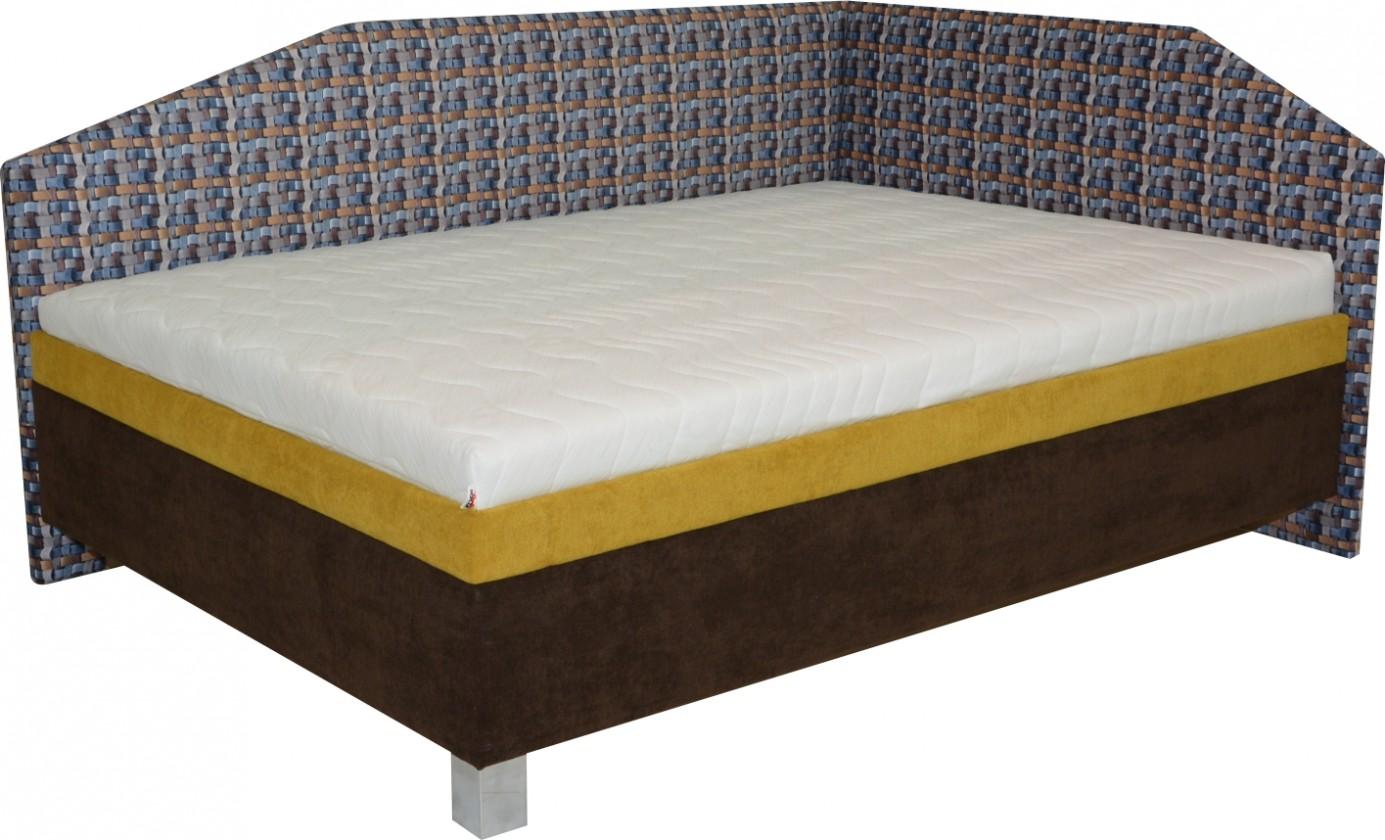 Zlevněné postele Válenda Kasandra 140x200, čelo vpravo, vč. matrace, roštu a úp