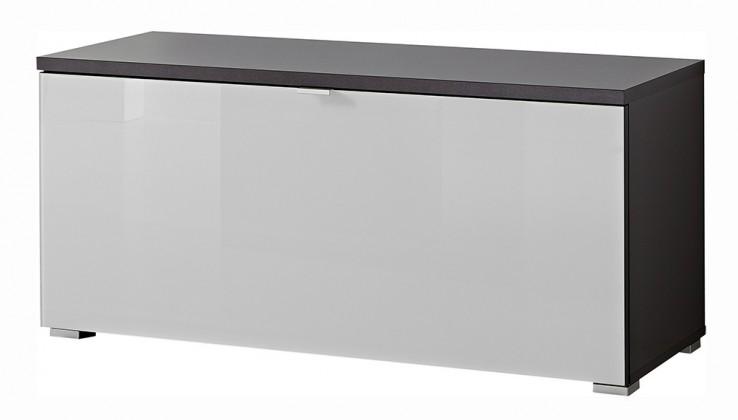 Zlevněné předsíně GW-Alameda - Botník,1x výklopné dveře (antracit/bílá)