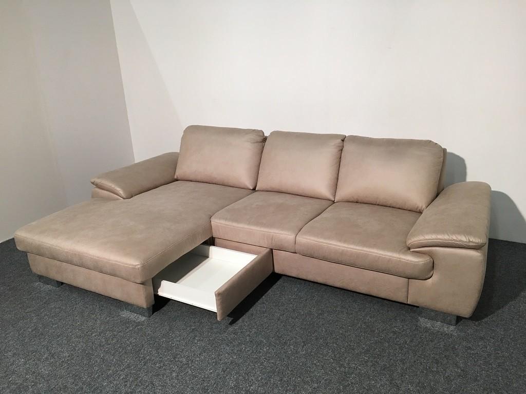 Zlevněné sedací soupravy Rohová sedačka Bermuda (cuero natur) - II. jakost