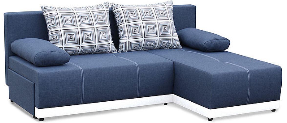 Zlevněné sedací soupravy Rohová sedačka rozkládací Picolo II univerzální roh ÚP modrá