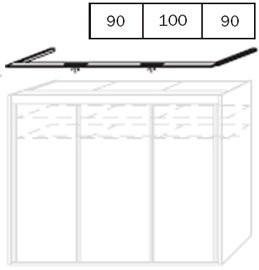 Zlevněné skříně Imperial, horní lišta (Alpská bílá) - II. jakost