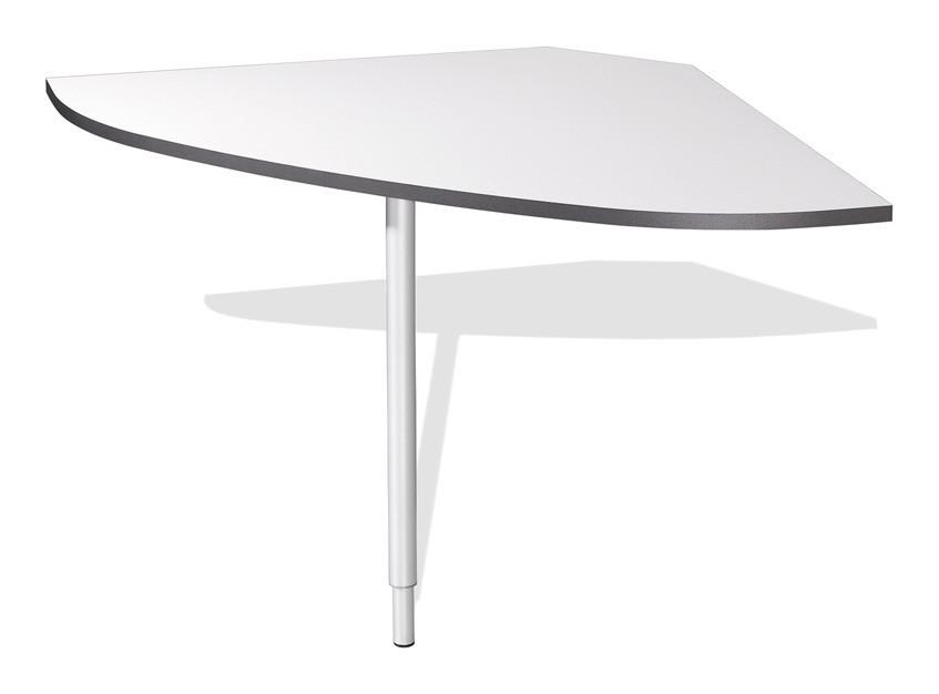 Zlevněný kancelářský nábytek GW-Linea - spojovací roh stolu (antracit / bílá)