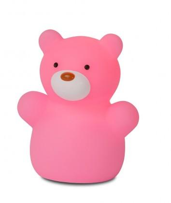 Zoo - lampička, Bear, 1W, LED (růžová)