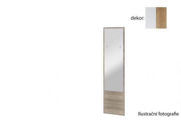 Zrcadlo Arya Typ 09(bílá arctic/dub san remo rustic)