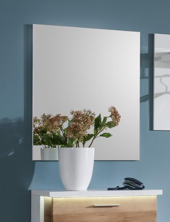Zrcadlo Cino - Panel se zrcadlem (bílá)