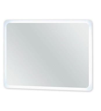 Zrcadlo do koupelny Rouen - Zrcadlo s LED osvětlením  80 cm (bílá vysoký lesk)