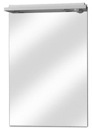 Zrcadlo do koupelny Zrcadlo s halogenovým osvětlením, vypínačem a zásuvkou 50 cm