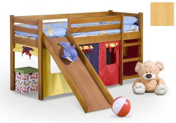 Zvýšená postel Dětská postel Neo Plus - zvýšená (borovice)