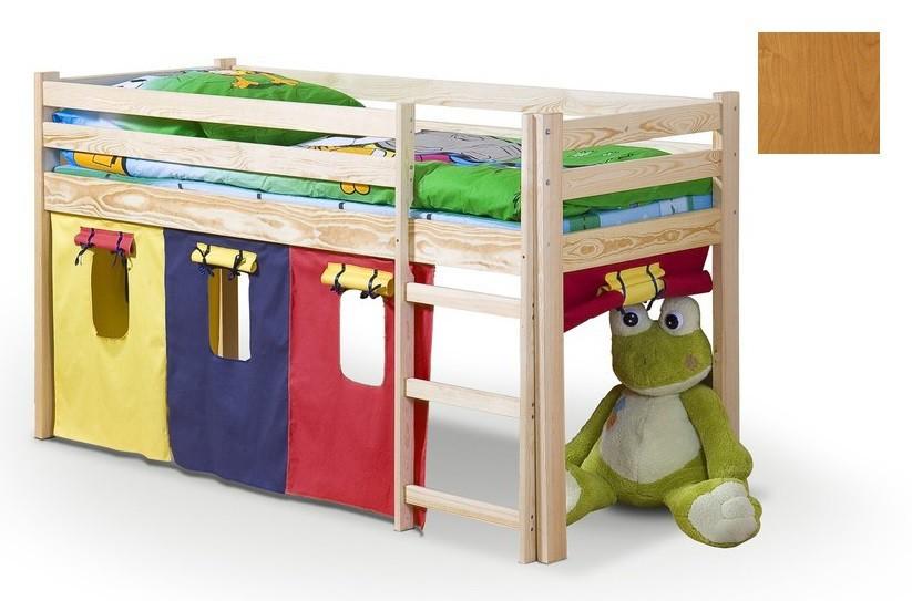 Zvýšená postel Dětská postel Neo - zvýšená (olše)