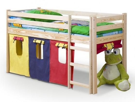 Zvýšená postel Neo (borovice)