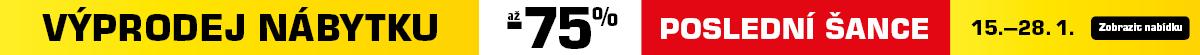 Poslední šance využít výprodej se slevou až 75 %!