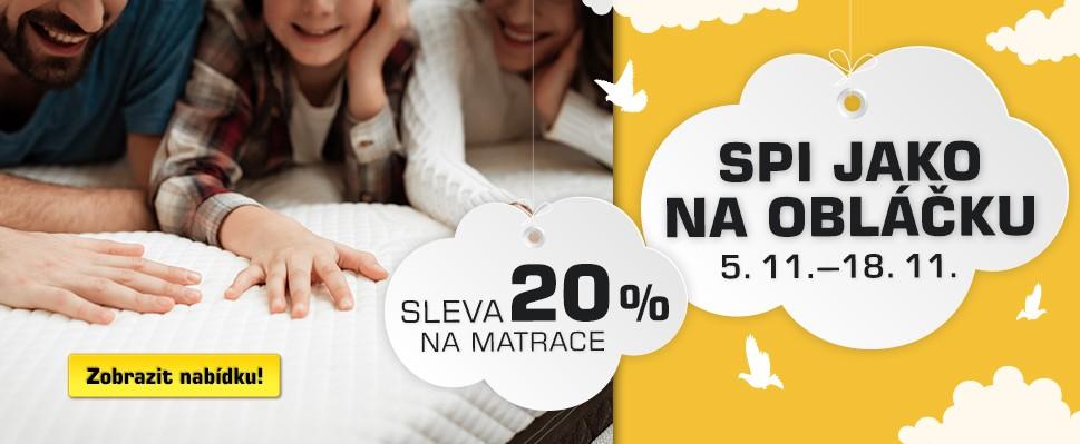 Týdny matrací - sleva 20 %